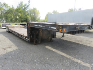 1971 Fruehauf Lowboy Trailer 25 Ton 22 Well Flatbed