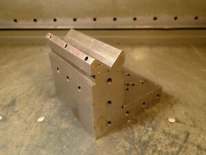 3 1 2 X 4 X 3 3 4 Precision Ground Right Angle Block Fixture Plate W V groove