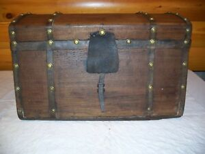 Jenny Lind Antique Vintage Trunk Dome Top Original Handles See Photos