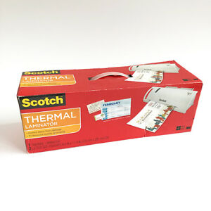 Scotch Thermal Laminator Hot Cold Includes 2 Letter size Laminating Pouches
