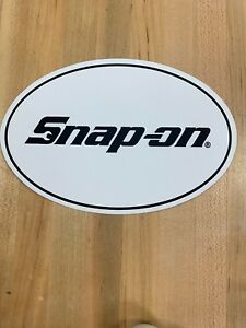 Snap On Tools White And Black Oval Decal