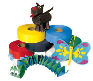 Pacon Wet N Stick Colored Paper Art Tape 1 1 2 Inch X 250 Feet Assorted