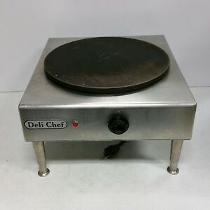 Quality Commercial Deli Chef 14 Inch Electric Cast Iron Crepe Maker Machine