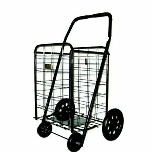 Extra Large Shopping Cart Heavy Duty Foldable Baskets Grocery Laundry