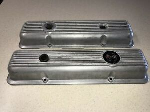 69 77 Corvette L82 69 70 Camaro Z28 Lt1 302 Oem Valve Covers Natural Patina