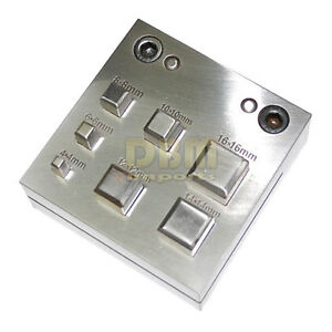 Metal Disc Cutter Square 4 16 Mm Hole Puncher Punches Jeweler Craft Jewelry