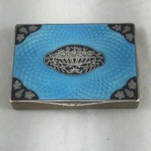 Beautiful Austrian Vintage Bronze Sterling Enamel Box