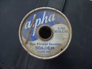 Five Pound 2 45 Lbs Alpha Metals Solder 062 Dia Energized Rosin