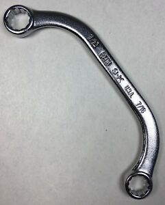 S K Tools Obstruction Wrench H1416 1 2 X 7 16 Half Moon Box End Usa Sk Tools