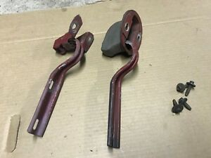 87 93 Ford Mustang Hood Hinges Brackets Cowl Panel Latches W Rubber Boots Oem
