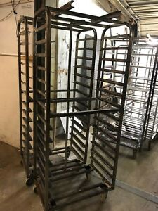 Lot Of 2 Hobart Baxter Stainless Steel Rolling Bakery Baking Oven Racks Carts