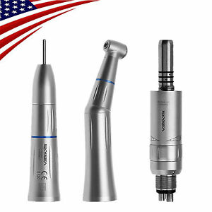 Dental Slow Speed Handpieces Kit Inner Water Contra Angle 4holes Motor Fit Kavo