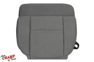 2007 2008 Ford F 150 Xlt X cab Supercab driver Side Bottom Cloth Seat Cover Gray