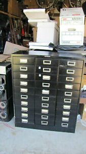 Vintage Steelmaster Metal File Cabinet 30 Drawers