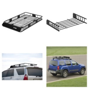 Universal Cargo Carrier Rack Cross Bars Car Suv Roof Top Basket Luage Holder