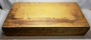 Very Old Vintage Primitive Dove Tail Large Wood Seed Box Great For Display