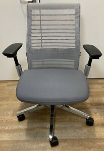 Steelcase Ergonomic Executive Think Chair In Grey Fabric Fully Adjustable New