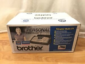 Brother Fax 575 Personal Plain Paper Fax Phone Copier Brand New Sealed