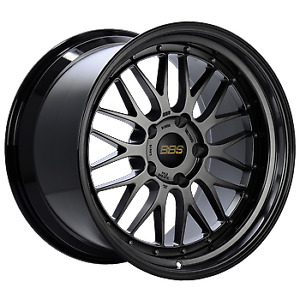 Bbs Lm 18x8 5 5x130 56mm Diamond Black Center W Diamond Black Lip Wheel