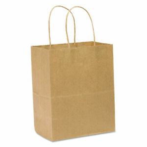 Paper Shopping Bag 60lb Kraft Heavy duty 8 X 4 1 2 X 10 1 4 250 Bags