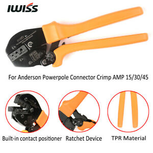 Iwiss Ratchet Crimping Pliers Crimper Tool Amp 15 30 45 For Anderson Connectors