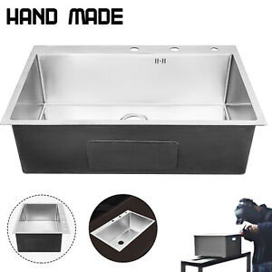 33 X 22 Stainless Steel Sink Handmade Sink Hand Sinks Square Farmhouse