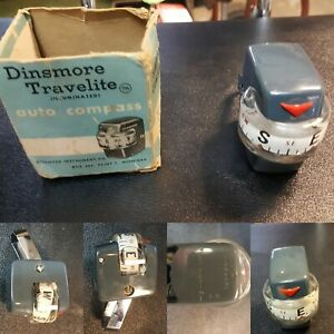 Vintage Rare Dinsmore Automobile Gauge Compass Light Original Gm Street Rat Rod