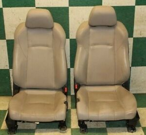 07 09 350z Roadster Gray Leather Dual Power Bucket Racings Seats Hot Rod Tracks