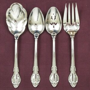 Holmes Edwards Silver Fashion Serving Spoons Fork Silverplate Casserole