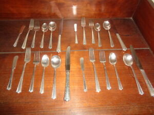 Processional Fine Arts Sterling Flatware Four 4 Six Piece Place Settings