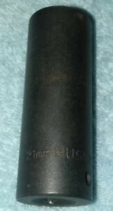 Husky 21 Mm Impact Socket Deep 6 Point 1 2 Inch Drive 27621