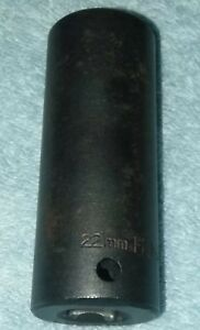 Husky 22 Mm 27622 1 2 Inch Drive Deep Impact Socket 6 Point