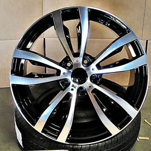 20x10 20x11 5x120 40 35 Black Machined Wheels set Of 4 Fit Bmw X5m X6m