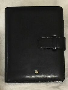 Montblanc Meisterstuck Medium Black Leather Organizer Agenda Day Planner A6 7332