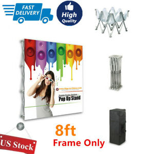 Us 8ft Tension Fabric Pop Up Display Backdrop Stand Booth And Walls frame Only