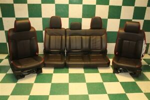 12 F150 Fx2 Crew Black Leather Dual Power Heated Cooled Bucket Seats Backseat