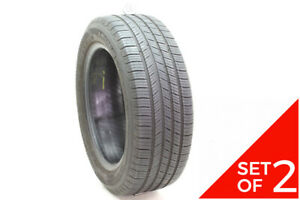 Set Of 2 Used 205 55r16 Michelin Defender 91h 6 7 5 32