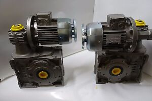 2 bonfiglioli Worm Drive Gear Box bn80c4 Ac Electric Motor Assembly Unit