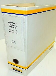 New Holland Boomer 20 Boomer 25 Tractor Service Overhaul Repair Manual W binder