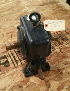 Perfection Gear Speed Reducer Worm Gearbox Sb3210b 10 1 Ratio 1574w