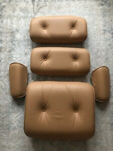 Herman Miller Eames Lounge Chair Tobacco Leather Set