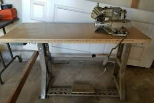 Consew Industrial Blindstitch Sewing Machine Complete W Industrial Table pickup
