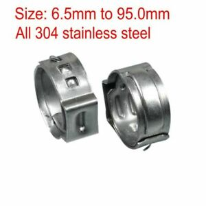 One Ear Stepless Hose Clamps 304 Stainless Steel Quick Tube Standard Pipes Clamp