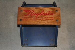 Vintage Raybestos Rolling Stool Seat Roller Creeper W Tray Car Auto Mechanic