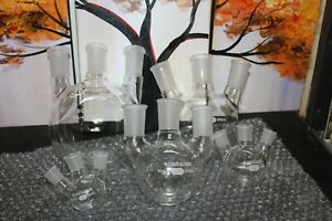 Chemglass Assorted Volume And Joint Fitting Three Neck Round Bottom Flasks