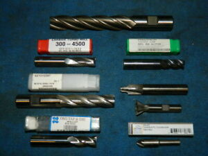 Lot Of 8 New End Mills Various Sizes And Shapes
