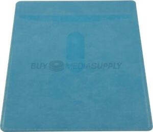 Non Woven Blue Color Plastic Sleeve Cd dvd Double sided