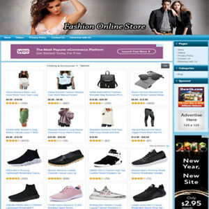 Fashion Store Ready Made Affiliate Website For Sale Amazon adsense dropship
