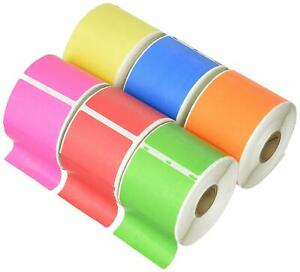 6 Rolls 2 5 16 x4 6 Colors Dymo Compatible 30256 Shipping Labels 2 312x4