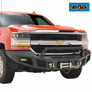 16 18 Chevy Silverado 1500 Front Winch Bumper With Led Lights Heavy Duty